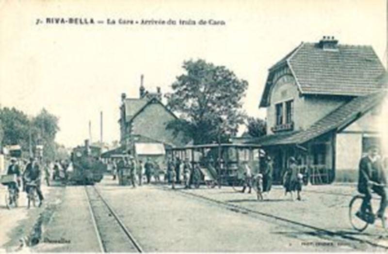 Arrivée du train à Ouistreham Riva Bella